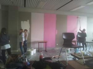 Klassenzimmer verschönert
