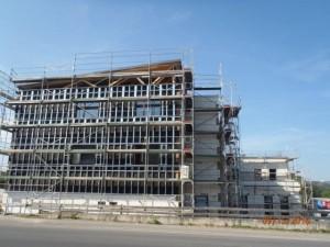 Gerüstbauarbeiten Gewerbeimmobilie