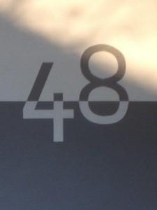 Gestaltung Hausnummer