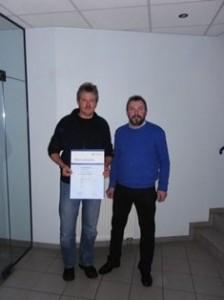 Jubilar Armin Wallasch 25 Jahre 2010